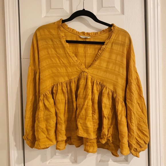 Lucky Brand Tops - Mustard Yellow Blouse — Worn Once!
